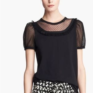 Red Valentino Black Embellished Tee Size XS